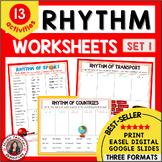 RHYTHM Worksheets Match the Words to the Rhythm