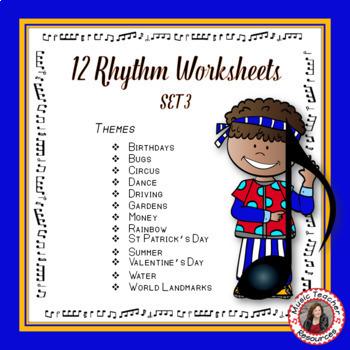 Music Rhythm Activities : Set 3
