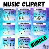 Music Symbols Clipart Barlines, Clefs, Dynamics, Accidentals, Music Notes BUNDLE