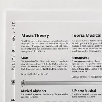 MUSIC THEORY: English/Spanish Basic Music Theory Reference Guide