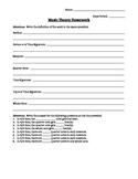 Music Theory Homework - Staff & Time Signature Basics