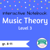 Music Theory Interactive Notebook Lvl 3: Intervals, Transp