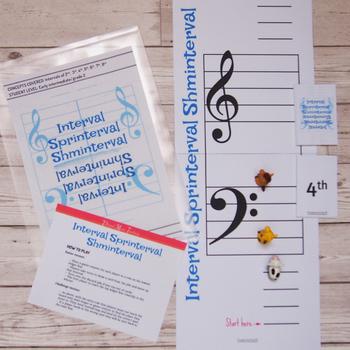 Music Theory Interval Practice Game – Interval Sprinterval Shminterval