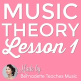 Music Theory Lesson 1 with Word Search Activity - No Prep