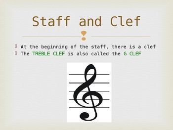 Music Theory Lesson 2 - The Treble Clef Powerpoint