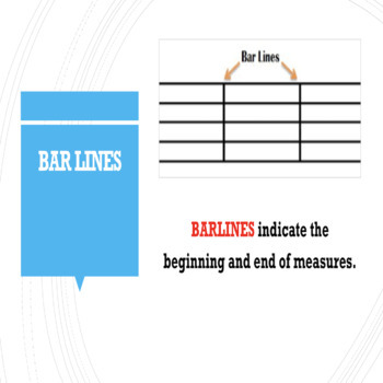 Music Theory Lesson 5 - Measures/Barlines/Double Barlines Powerpoint