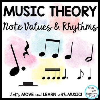 Music Theory Lessons, Games, Song, Worksheets, Flash Cards, Videos, 1-6 BUNDLE