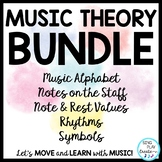 Music Activities, Videos, Worksheets: Notes, Rests, Names, Symbols, Rhythms