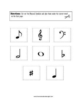 Music Theory Matching Worksheet