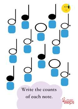 Music Theory Note Values for Kids | Semibreve Rhyme Song MP3 and Worksheets