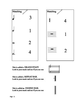 Music Theory Piano Primer Steps Skips Note Values Line Space Music Alphabet