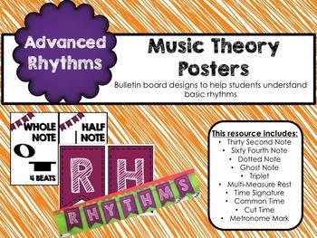 Music Theory Posters Advanced Rhythms