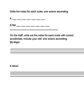 Music Theory Review and Practice Sheets - Bass