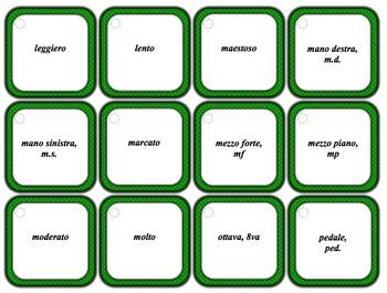 Music Theory Terms Cards - Basic - Polka Dot Design