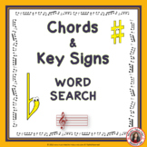 Music Word Search: Chords and Key Signatures Word Search: Music Theory Game: