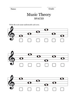 Music Theory Worksheets