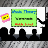 Music Theory Worksheets / Assessments for Middle School /