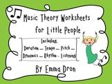 Music Theory Worksheets for Little People