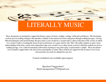 Music Theory: a graphic organizer