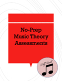 15 Music Theory no-prep digital lessons. for subs, bell wo