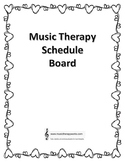 Music Therapy Schedule Board Template