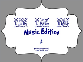 Music Tic Tac Toe Game: Quarter Rest