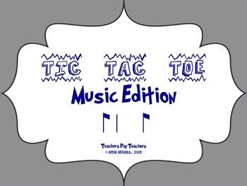 Music Tic Tac Toe Game: Syncopa