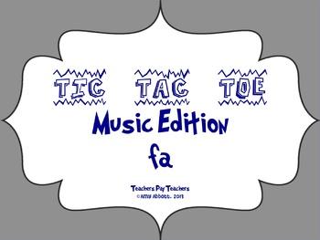 Music Tic Tac Toe Game: fa