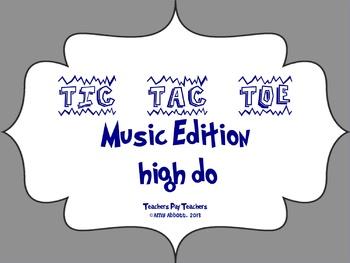 Music Tic Tac Toe Game: high do