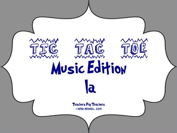 Music Tic Tac Toe Game: la