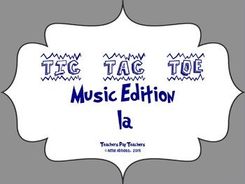 Music Tic Tac Toe Game: la