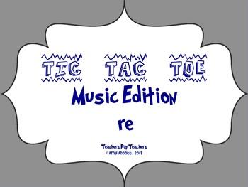 Music Tic Tac Toe Game: re