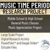 Music Time Period Research Project EDITABLE (PPT & Google Slides)
