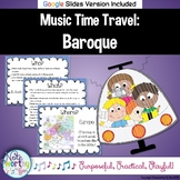 Music Time Travel:  Baroque Music {Bulletin Board and Vide