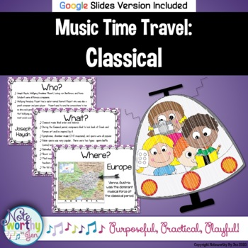 Music Time Travel:  Classical Music {Bulletin Board and Video Links}