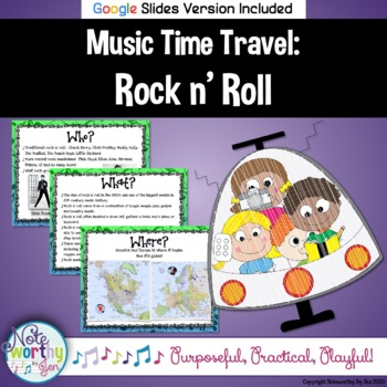 Music Time Travel:  Rock n' Roll {Bulletin Board and Video Links}