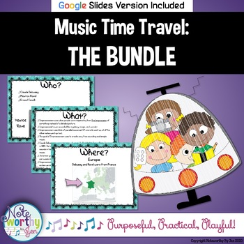 Music Time Travel:  The Bundle {Bulletin Boards with Video Links}