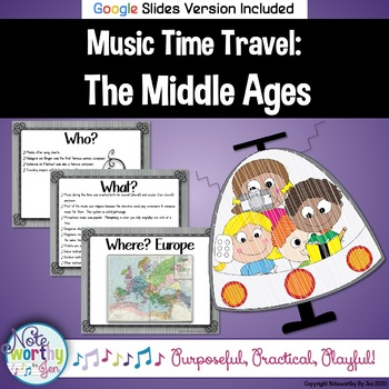 Music Time Travel:  The Middle Ages {Bulletin Board and Video Links}