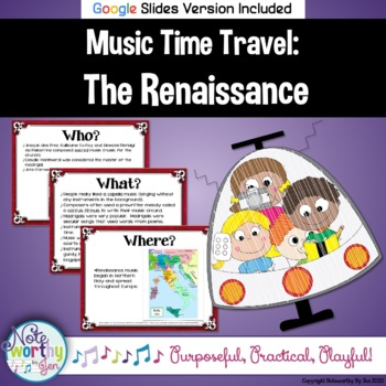 Music Time Travel:  The Renaissance {Bulletin Board and Video Links}