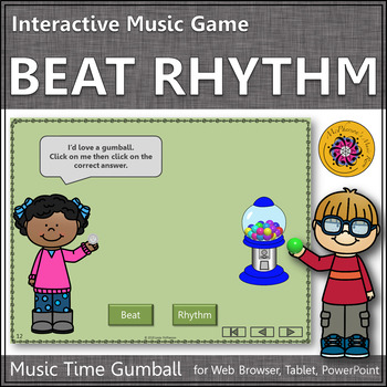 Music Time with Beat or Rhythm Interactive Music Game (gumball)