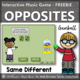 Music Time with Same and Different Interactive Music Game (gumball) FREEBIE