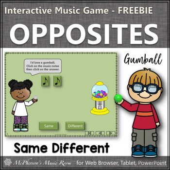 Music Time with Same and Different Interactive Music Game