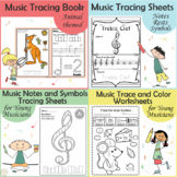 Music Tracing Activities Bundle for Young Musicians