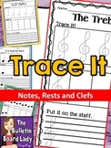 Music Tracing Worksheets