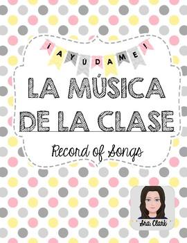 Music Tracking Form - Spanish