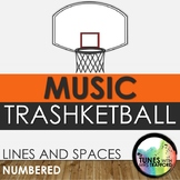 Music Trashketball: Lines and Spaces (numbered)