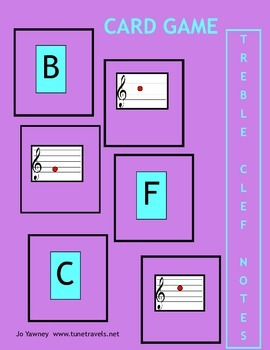 Music: Treble Clef Card Game