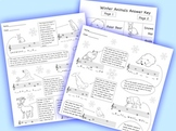 Music:  Treble Clef Winter Animals Color/Worksheets