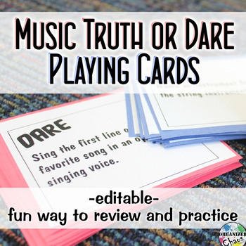 Music Truth or Dare Cards