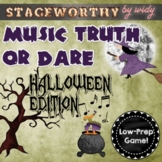 Halloween Music Game - Musical Truth or Dare for Junior Grades